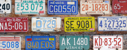 US car number plates