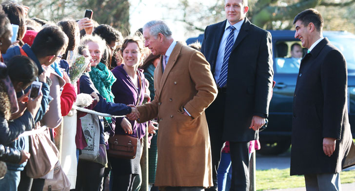 Prince Charles meeting a crowd