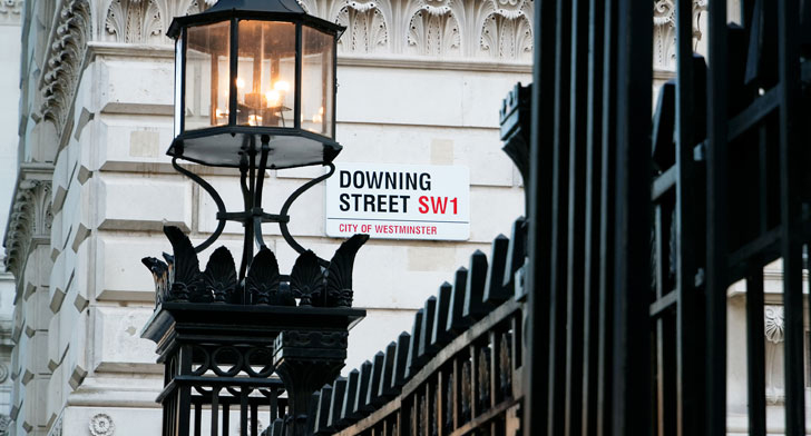 Downing Street street sign