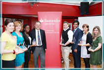 Big E Award winners with Pro-Vice-Chancellor Andy Downton