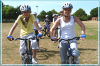 Young people take part in mountain bike training