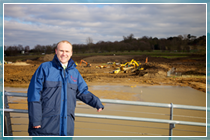 Andrew Hayward oversees the site during the development