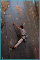 Have a go on the University's climbing wall