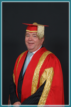 Bill Gore in his Pro-Chancellor's robes