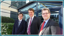 Dr Andrew Hopkins, CEO Dr Karl Heeks and Professor Klaus McDonald-Maier at UltraSoC's head office in Cambridge