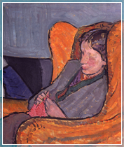 Virginia Woolf by Vanessa Bell, courtesy of the National Portrait Gallery