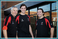 Academy Director at Essex County Cricket Club John Childs, cricket scholarship holder Ben Moore and Graham Napier.