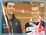 Scott Moorhouse and Dom King at the University of Essex Sports Centre