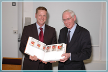 The Vice-Chancellor and Librarian with the millionth book