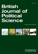Front cover of the British Journal of Political  Science