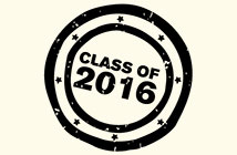 Icon which says class of 2016 - sign up to employability emails
