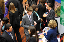Students at a careers fair