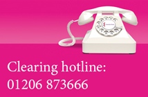 Clearing hotline: 01206 873666