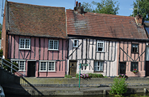Row of old English houses