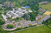aerial photo of colchester campus