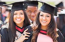 Three graduation students
