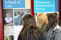 Students at an applicant day