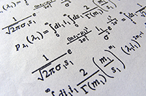 Textbook page of mathematical formulae