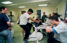 Students in the Human Performance Unit