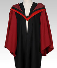 Doctorate gown front