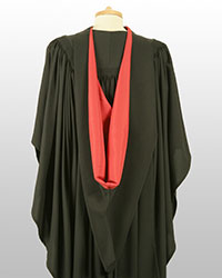 Bachelors gown back